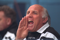 COVENTRY, ENGLAND - Saturday, April 6, 1996: Liverpool's coach Ronnie Moran on the bench against Coventry City during the Premiership match at Highfield Road. Coventry won 1-0. (Pic by David Rawcliffe/Propaganda)