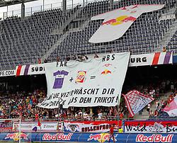 17.07.2011, Red Bull Arena, Salzburg, AUT, 1. FBL, FC Red Bull Salzburg vs Austria Wien, im Bild die Sued, Fans mit Transparent, EXPA Pictures © 2011, PhotoCredit: EXPA/ D. Scharinger
