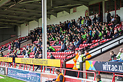 FGR away support during the EFL Sky Bet League 2 match between Walsall and Forest Green Rovers at the Banks's Stadium, Walsall, England on 10 August 2019.