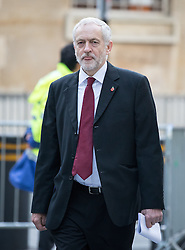 © Licensed to London News Pictures. 13/11/2016. London, UK. Leader of the Labour Party Jeremy Corbyn MP arriving at the Andrew Marr Show today. The show has been heavily criticised for screening a pre-recorded interview with far-right politician Marine Le Pen, who associates with Le Front National (The National Front). Photo credit : Tom Nicholson/LNP