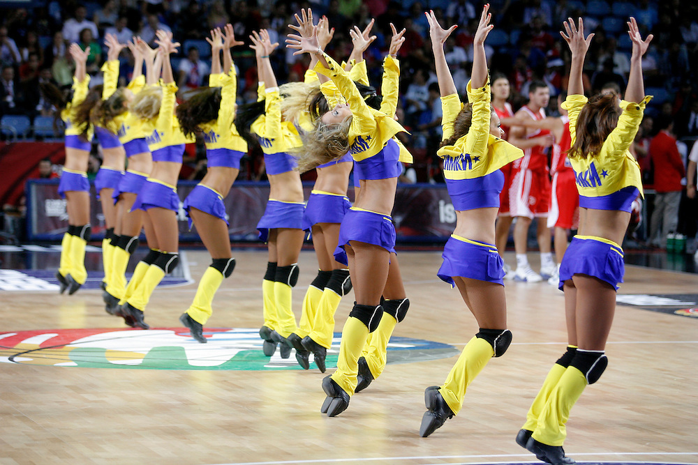 Dancers perform at the world basketball champs, Istanbul, Turkey, Wednesday, September 08, 2010. Credit:SNPA / Ben Campbell
