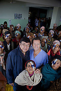 Eye Camp in Dolkha a mountain  region of eastern Nepal. Organised by Himalayan Cataract Project, Tilganga Institute of Opthalamology Kathmandu featuring the work of Dr Geoff Tabin, Dr Sanduk Ruit and their team.