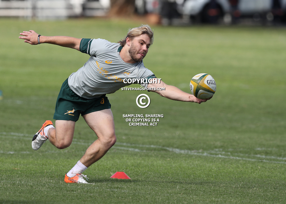 DURBAN, SOUTH AFRICA, 4 October, 2016 - Rugby Championship, Faf de Klerk during the South African (Springbok) field training session at Kings Park in Durban, South Africa. (Photo by Steve Haag)