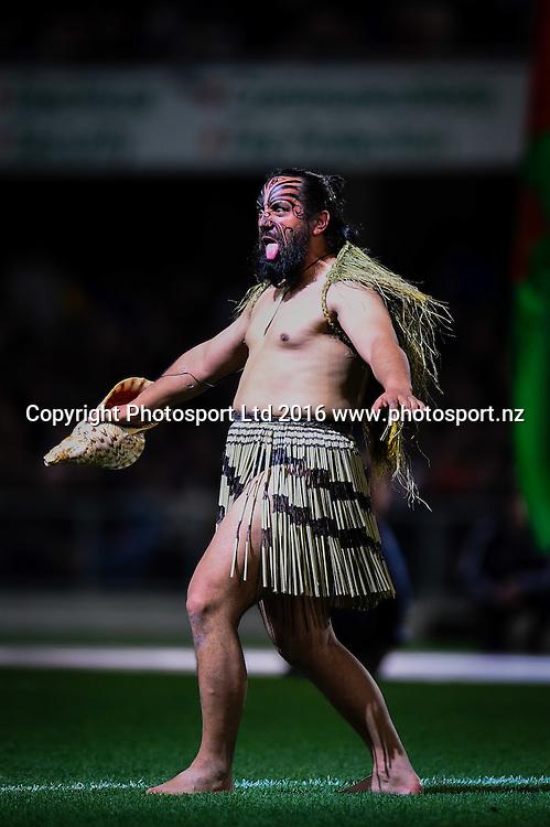 preformer during the 3rd Steinlager Series Rugby Union Test match, All Blacks v Wales, at Forsyth Barr Stadium, Dunedin, New Zealand. 25th June 2016. Copyright Photo: John Davidson / www.photosport.nz