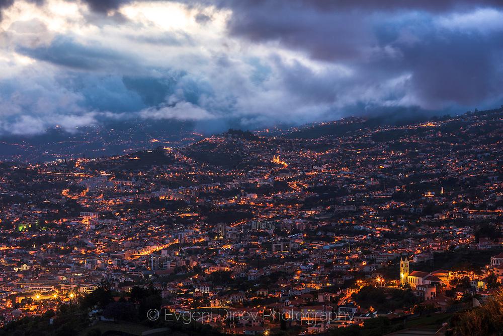 Night lights of a big town