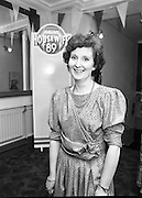Calor Kosangas Housewife Of The Year. (S1)..1989..10.04.1989..04.10.1989..10th April 1989..Six housewives took part in the Calor/Kosangas Housewife of the Year final at the Olympia Theatre, Dublin tonight...Picture of Mrs Bernadette O'Connor, Cork, who took part in the Calor/Kosangas ,Housewife of the Year, at the Olympia Theatre.