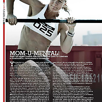 An image of Angie Pye that was featured in the CrossFit Magazine Sweat RX
