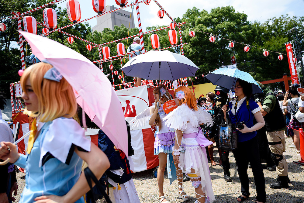 AUGUST 7, 2016 - Cosplayers walk in a parade during the World Cosplay Summit in Nagoya, Japan.  <br /> <br /> The week long event attracts thousands of cosplayers from Japan and around the world. (Photo by Ben Weller/AFLO) (JAPAN) [UHU]