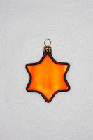 Christmas star ornament on white background