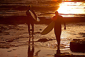 Stock Photos of Surfers at Sunrise