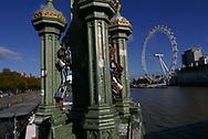 Locks fixed on West minister Bridge. Photo by Dennis Brack