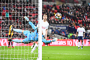 Tottenham Hotspur Forward Fernando Llorente (18) sends the ball wide during the The FA Cup 4th round replay match between Tottenham Hotspur and Newport County at Wembley Stadium, London, England on 7 February 2018. Picture by Stephen Wright.