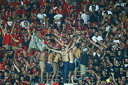 August 22, 2017 - Nice, France - Nice supporters  during the UEFA Champions League Qualifying Play-Offs round, second leg match, between OGC Nice and SSC Napoli at Allianz Riviera Stadium on August 22, 2017 in Nice, France. (Credit Image: © Matteo Ciambelli/NurPhoto via ZUMA Press)