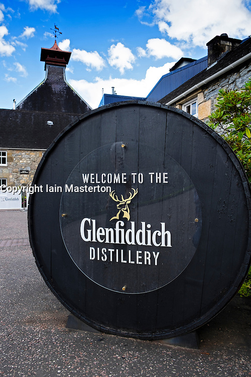 Glenfiddich whisky distillery in Dufftown Banffshire Scotland