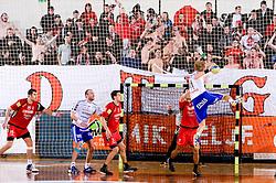 Bjorn Gron of Ystads during the 1/ 8 Men's European Handball Challenge Cup match between RD Slovan, Slovenia and Ystads IF, Sweden, on February 21, 2009 in Arena Kodeljevo, Ljubljana, Slovenia. Slovan defeated Ystads 37-27 and qualified to quarterfinals. (Photo by Vid Ponikvar / Sportida)