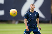 10th August 2019; Dens Park, Dundee, Scotland; SPFL Championship football, Dundee FC versus Ayr; Andrew Nelson of Dundee during the warm up before the match