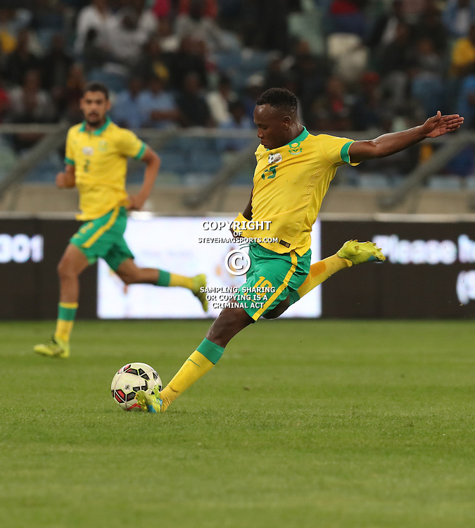 May Mahlangu of South Africa during the international friendly match between South Africa ( Bafana Bafana ) and Ghana at the Moses Mabhida stadium in Durban, South Africa on the 11th October 2016<br /> <br /> Photo by:   Steve Haag / Real Time Images