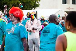 Carnival 2015 continues Jouvert morning on the Watefront.  St. Thomas, VI.  30 April 2015.  © Aisha-Zakiya Boyd