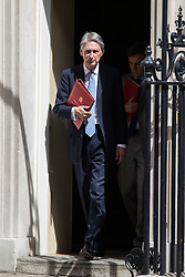© Licensed to London News Pictures . 05/07/2016 . London , UK . PHILIP HAMMOND leaves . Conservative Party cabinet meeting on Downing Street , London . Photo credit: Joel Goodman/LNP