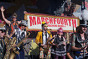 March Fourth Marching Band perfroming at Bumbershoot 2011, Seattle, Washington, USA