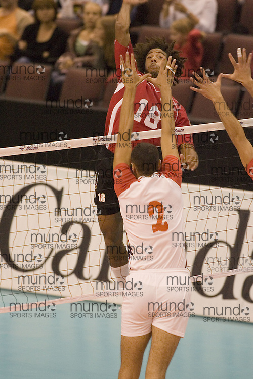 Alexandre Gaumont Casias of  Canada Two during a three games to none defeat by Tunisia in the 2006 Anton Furlani Volleyball Cup, held in Ottawa, Canada. .Anton Furlani Cup.Copyright Sean Burges / Mundo Sport Images, 2006