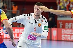 Martin Velkovski of Macedonia during handball match between National teams of Macedonia and Spain on Day 4 in Main Round of Men's EHF EURO 2018, on January 21, 2018 in Arena Varazdin, Varazdin, Croatia. Photo by Mario Horvat / Sportida