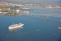 Carnival Pride Cruising at Frances Scott Key Bridge