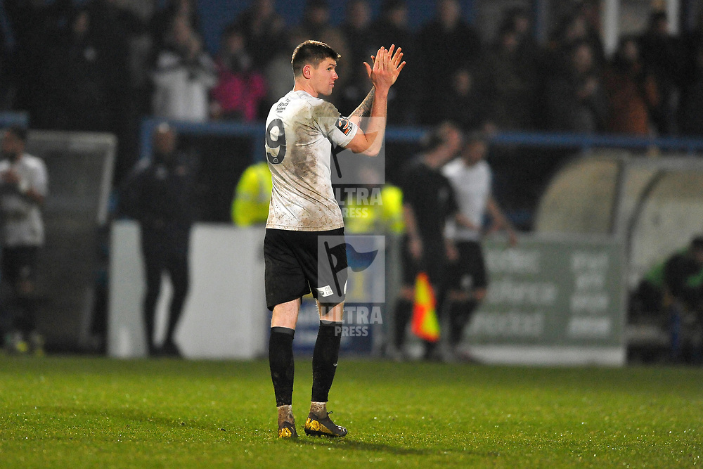TELFORD COPYRIGHT MIKE SHERIDAN Matt Stenson of Telford (on loan from Solihull Moors) during the Vanarama Conference North fixture between AFC Telford United and Alfreton Town at the New Bucks Head Stadium on Thursday, December 26, 2019.<br /> <br /> Picture credit: Mike Sheridan/Ultrapress<br /> <br /> MS201920-036