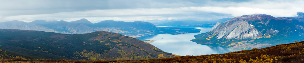 View of Tutshi Lake from Montana Mountain, Yukon.