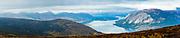 View of Tutshi Lake from Montana Mountain, Yukon.