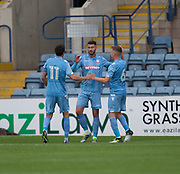 Bolton Wanderers' Gary Madine celebrates after scoring  - Dundee v Bolton Wanderers pre-season friendly at Dens Park, Dundee, Photo: David Young<br /> <br />  - © David Young - www.davidyoungphoto.co.uk - email: davidyoungphoto@gmail.com