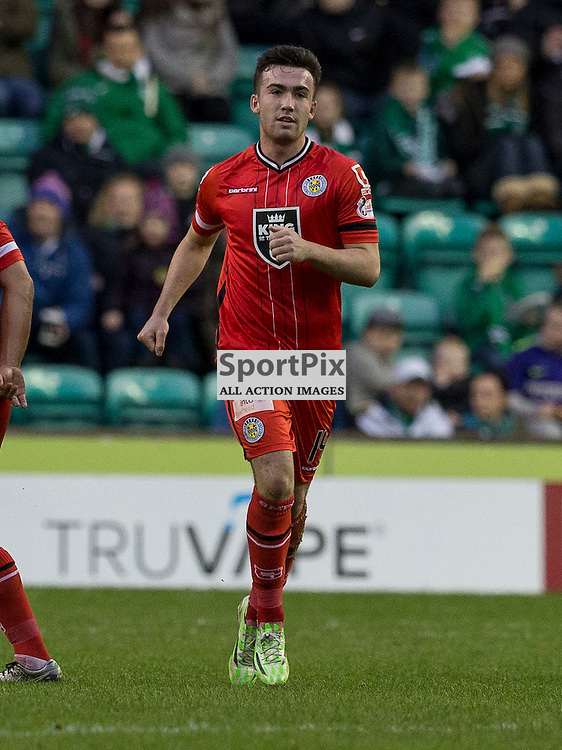 Hibernian FC v St Mirren FC <br /> <br /> Stephen Mallan  (St Mirren) celebrates goal during the SPFL Championship match between Hibernian and St Mirren FC at Easter Road Stadium on Saturday 23 January 2016.<br /> Picture Alan Rennie.
