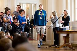 "Jaka Blazic during award ceremony ""Zlati red za zasluge"" for Basketball association of Slovenia on the day of statehood in the presidential palace, on June 25, 2018 in Ljubljana, Slovenia. Photo by Urban Urbanc / Sportida"