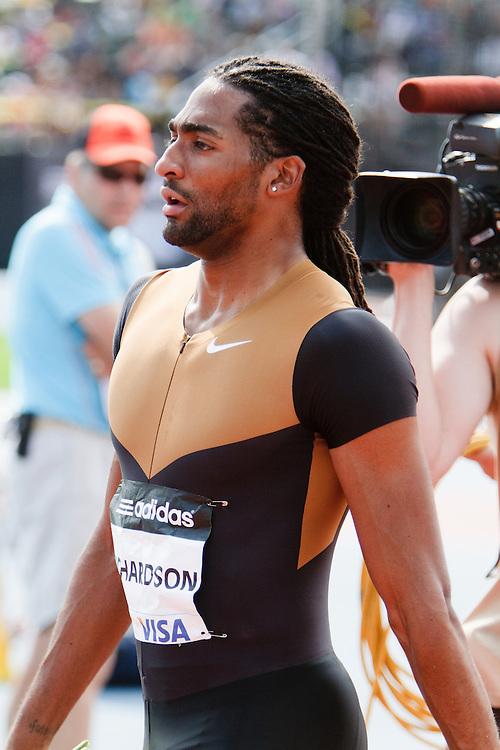 Samsung Diamond League adidas Grand Prix track & field; men's 110 hurdles, Jason Richardson