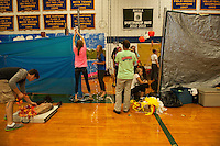 Gilford High School Homecoming preparations for Spirit Hallways - Four Seasons.    ©2014 Karen Bobotas Photographer