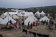 March 1, 2016 - Lesbos, Greece - <br /> <br /> Refugees camp Moria in Lesbos<br /> <br /> Daily life of Refugees and migrants at the Moria camp in Lesbos island, Greece on March 1, 2016.<br /> ©Exclusivepix Media