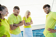 Sailing, Men, Women, Friendship, Cheerful, Arms Crossed, Laughing,