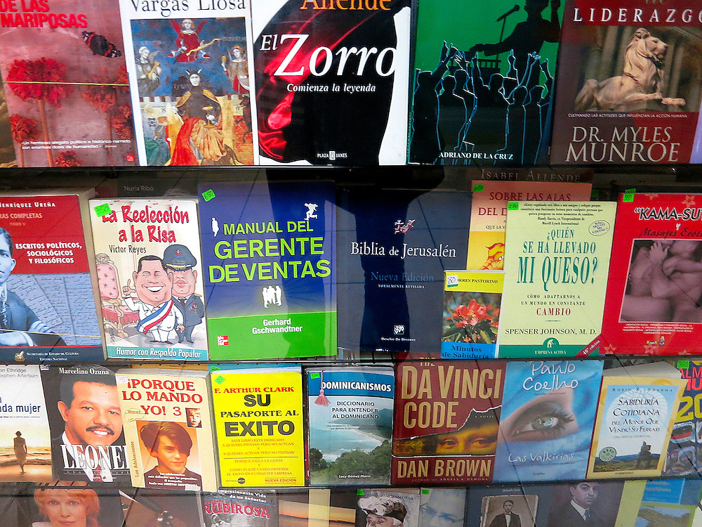 Bookstore, Caribe bus station, Zona Colonial, Santo Domingo, Dominican Republic