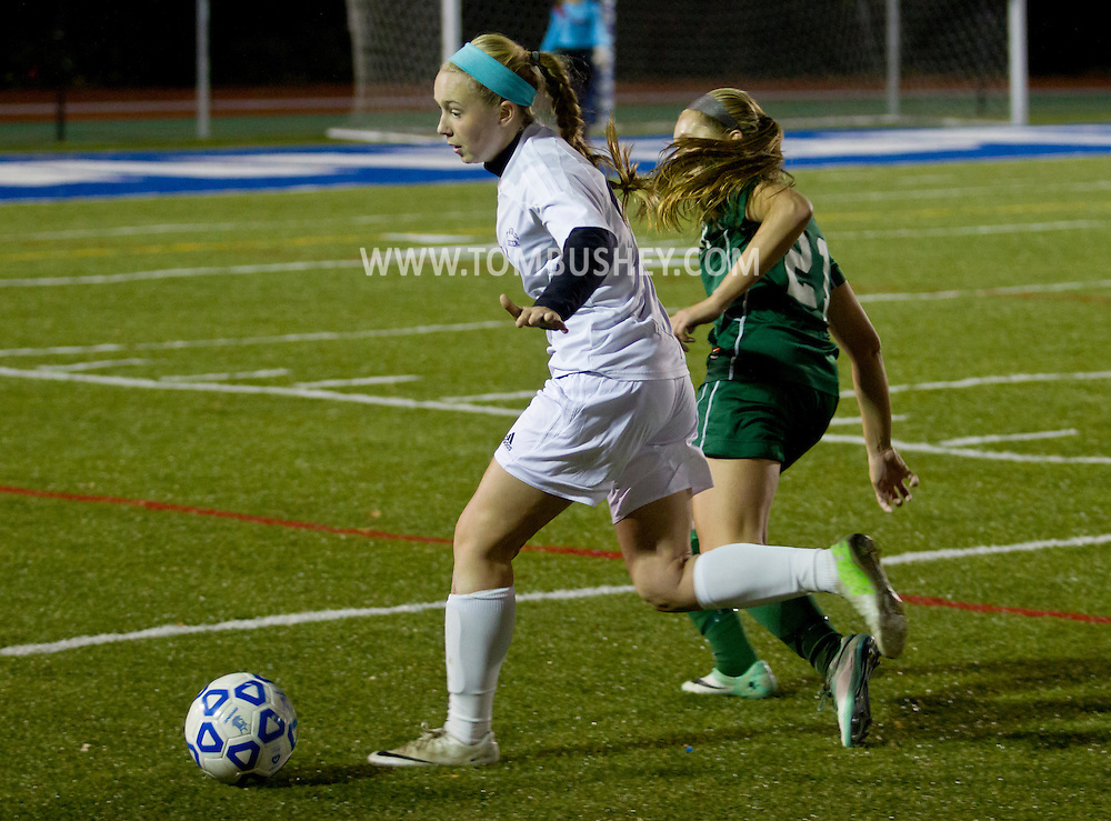 Middletown, New York  - Minisink Valley High School plays Monroe-Woodbury  in the Section 9 Class AA championship game on Oct. 30, 2014.