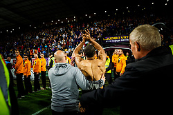 Marcos Tavares #9 of NK Maribor saluting to fans after winning new national title with NK Maribor after football match between ND Gorica and NK Maribor in Round #32 of Prva liga Telekom Slovenije 2016/17, on May 5th, 2017 in Ljudski Vrt, Maribor, Slovenia. Photo by Grega Valancic / Sportida