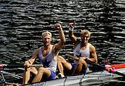 Henley Royal Regatta, Henley on Thames, ENGLAND,  1996, Silver Goblets & Nickalls' Cup..A NADER/H BAUER,, Rv Wiking Linz, AUSTRIA,  Photo: Peter Spurrier/Intersport Images. email images@intersport-images.com
