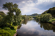 the river Ruhr in Wetter, Ruhr area, Germany.<br /> <br /> die Ruhr in Wetter, Ruhrgebiet, Deutschland.