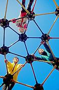 Children climbing on playground