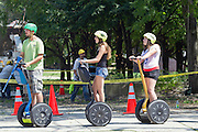 Segway tours at Millennium park, Chicago, IL, USA