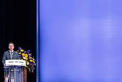 06.04.2019, Design Center, Linz, AUT, 34. Ordentlicher Landesparteitag der FPÖ Oberösterreich, im Bild FPÖ Landes-Parteiobmann Manfred Haimbuchner // FPÖ State Party Chairman Manfred Haimbuchner during the 34th Ordinary party convention of the FPÖ Upper Austria at the Design Center in Linz, Austria on 2019/04/06. EXPA Pictures © 2019, PhotoCredit: EXPA/ JFK