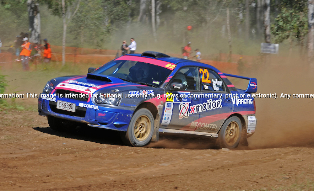 Matthew van TUINEN & Daniel WILSON - Subaru Impreza WRX.Heat 1.Red Devil Energy Drink Rally of Queensland.Sunshine Coast, QLD.10th of May 2009.(C) Joel Strickland Photographics.Use information: This image is intended for Editorial use only (e.g. news or commentary, print or electronic). Any commercial or promotional use requires additional clearance.