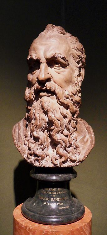 Sculpture of the Head of Saint Paul  in terracotta by Baccio Bandinelli, Italian artist 1493-1560, created 1435