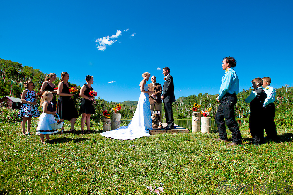 Chad Turner and Audrey Hughes wedding at The Coulter Lake Guest Ranch in Rifle, Colorado on Saturday, June 25, 2011.  Joshua Buck  // Joshua & Co. Photography // www.joshuacophotography.com