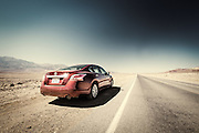 Driving through Death Valley, California