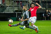 ALKMAAR - 26-11-15, Europa League, AZ  - FK Partizan, AFAS Stadion, 1-2, Partizan speler Subic, AZ speler Alireza Jahanbakhsh.